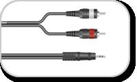 Série de câbles mini jack 3.5 mm stéréo vers deux RCA mâle