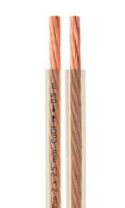 Câbles pour haut-parleurs et systèmes audio, vendu au mètre