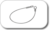 Câble de sécurité pour accroche enceinte