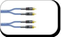 Série de câbles patch Sommercable SC-ONYX équipé double HICON RCA mâle