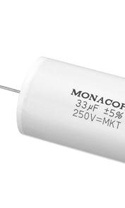Condensateurs Monacor MKT pour filtre passif d'enceinte