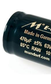 Condensateurs Mundorf ECap électrolytique bipolaire