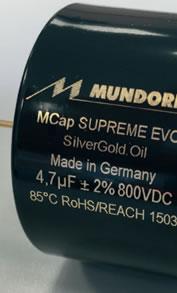 Condensateurs Mundorf MCap Supreme Evo