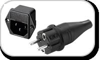 Connecteurs, fiches et embases pour alimentation électrique