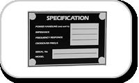 Logo & Plaques pour enceintes