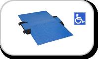 Rampe chaises roulantes pour passages de câbles Defender Midi