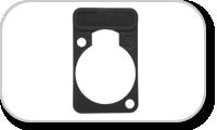 Plaquettes de pour embases Neutrik format D