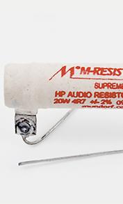 Résistances Mundorf Supreme (MRES20) pour filtre passif haute fidélité