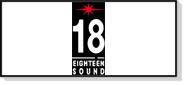 La gamme de haut-parleurs 18 Sound est très large, elle couvre du subwoofer 21 pouce jusqu'au pavillon et au wave-guide pour systèmes Line-Array