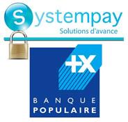Paiement carte bancaire sécurisé par Systempay Cyberplus de la Banque Populaire